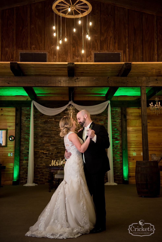 Orlando Club Lake Plantation Wedding Bride and Groom First Dance