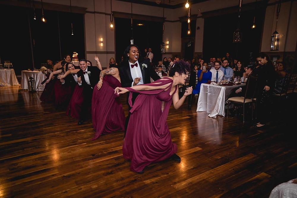 bridal party surprise dance
