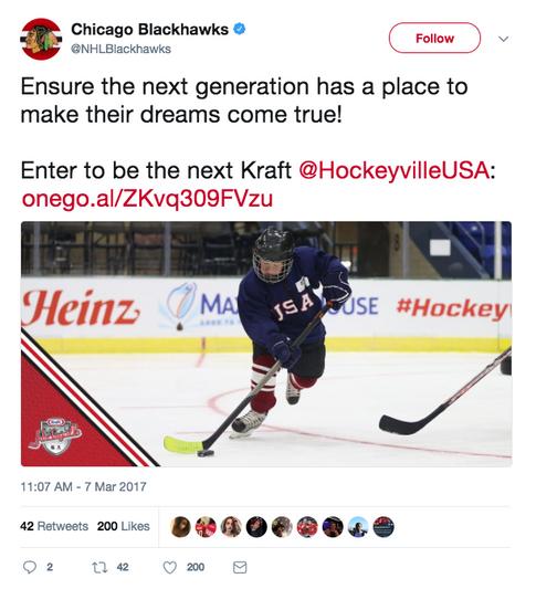 Chicago Blackhawks Tweet