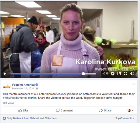 Karolina Kurkova Facebook Post w/ Video