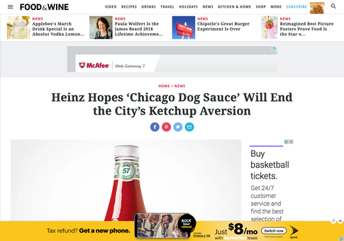 Food & Wine Coverage