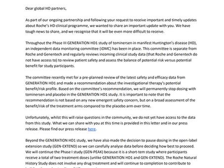 Community Letter from Roche/Genentech