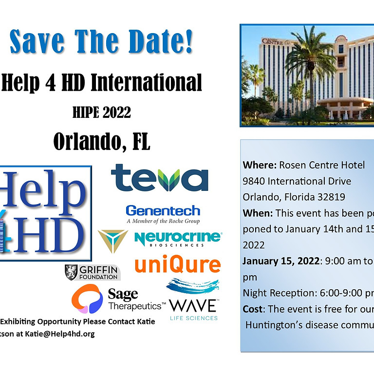 Help 4 HD HIPE Orlando, 2022 (This event is replacing the postponed Help 4 HD Symposium, 2021)