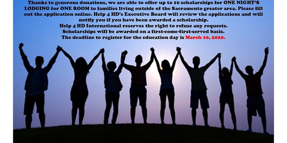 Help 4 HD International HIPE Sacramento, CA Room Scholarships Is Now Closed