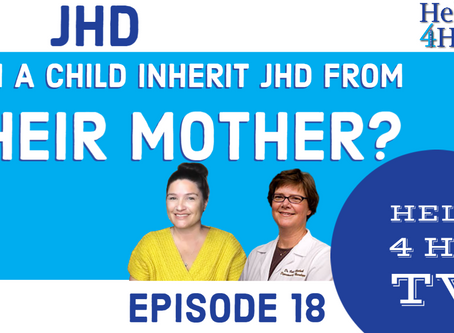 Can a child inherite JHD from their mother?