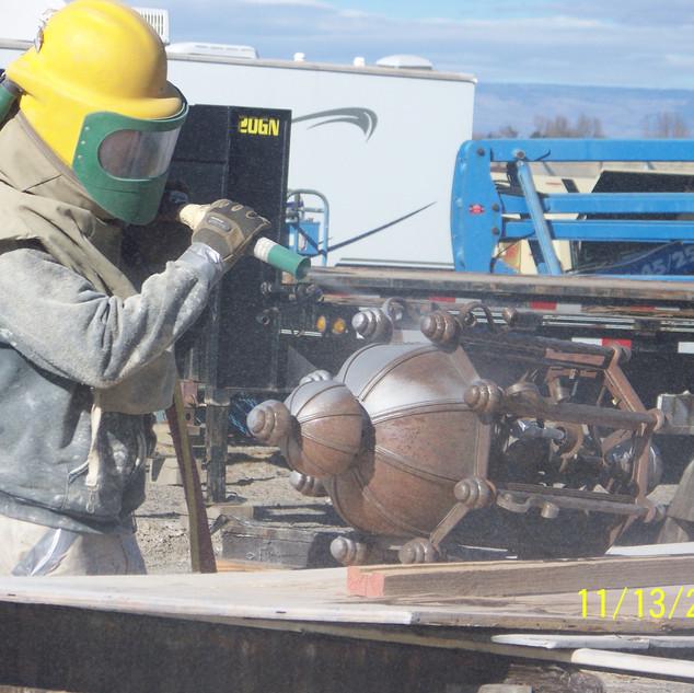 Sand Blasting, fixtures