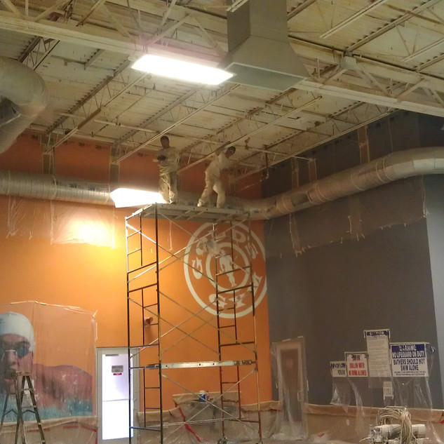 Commercial Jobs - Golds gym Interior