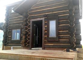 Log Chinking, Exterior