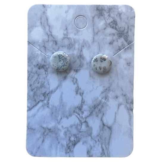 White and silver studs (Small)