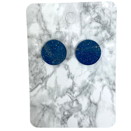 Galaxy blue studs (Large)