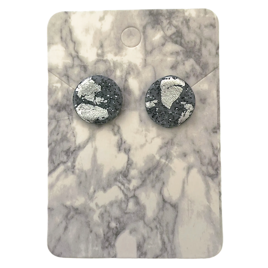 Granite and silver studs (Large)