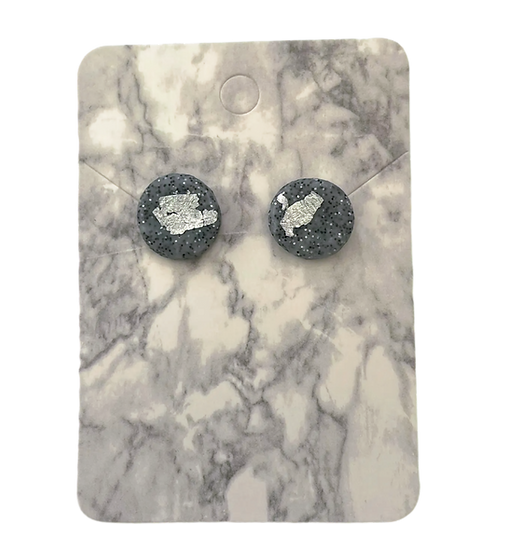 Granite and silver studs (Medium)