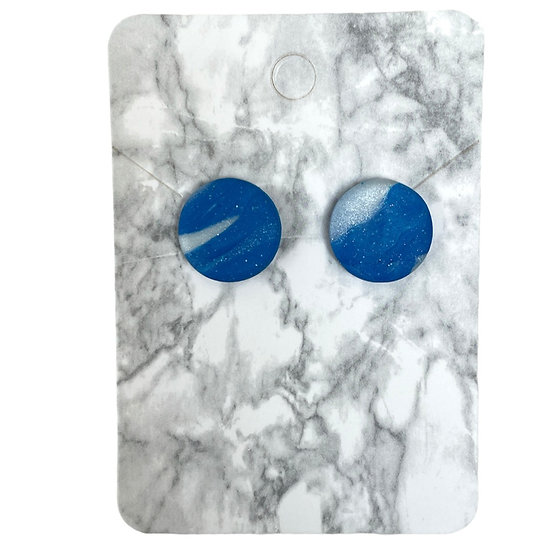 Sparkly blue studs (Large)