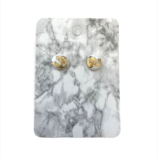 White and gold studs (Small)