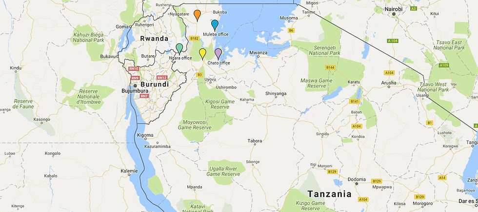 Google map of Tumaini Fund offices in Tanzania, Africa