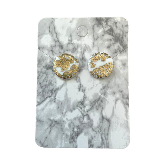 White and gold studs (Large)