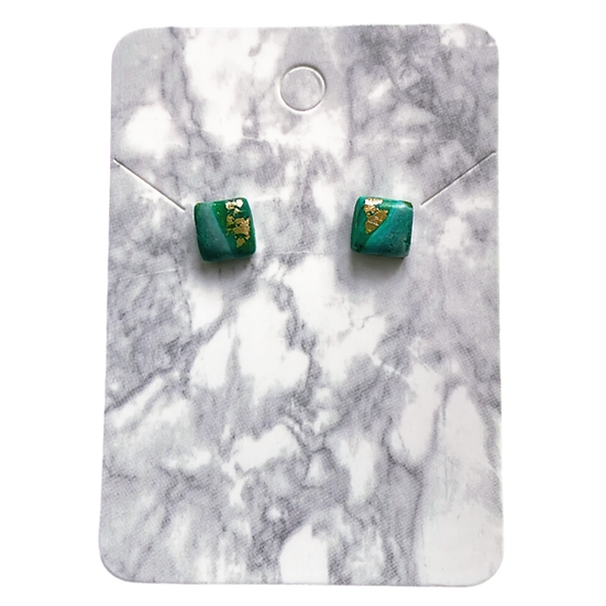 Green and gold studs (Small)