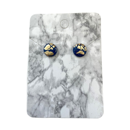 Sparkly blue and gold studs (Small)