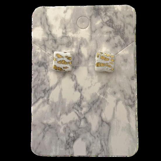 White and gold studs (Medium)