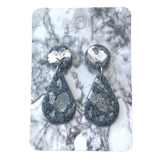 Granite and silver dangles