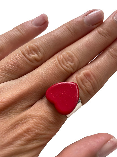 Spread love (glossy) ring