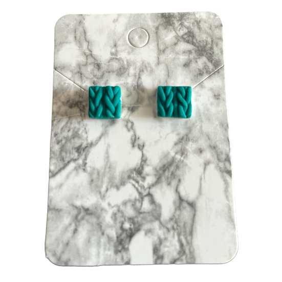 Emerals knitted studs (Small)