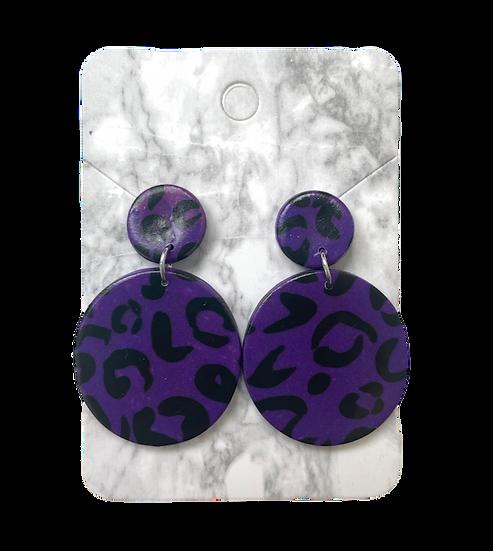 Purple leopard dangles