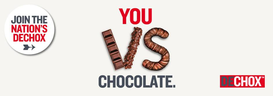 Dechox for March. Give up chocolate for a month to support The British Heart Foundation BHF