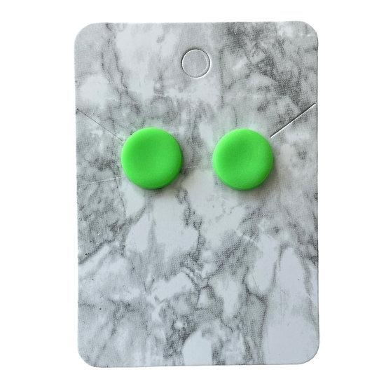 Neon green studs (Medium)