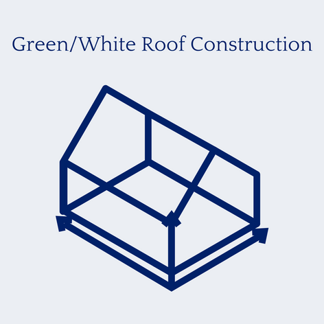 Green/White Roof Construction