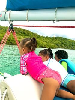 Sortie catamaran enfant sécurité