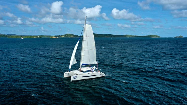 DyNaMo sortie catamaran fonds blancs