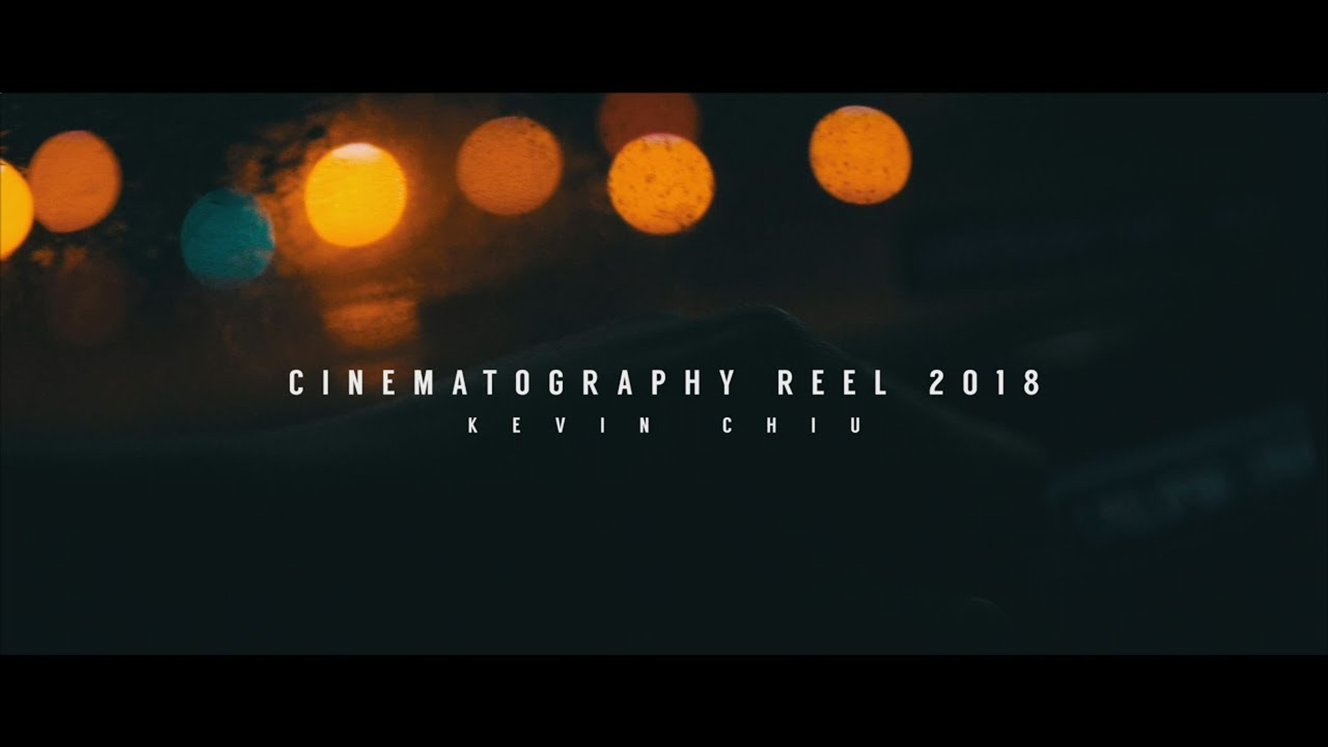 Cinematography Reel 2018