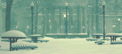 Snow covering a plaza