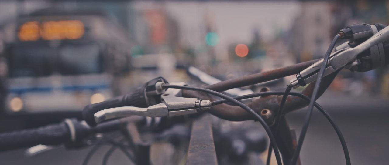 A bike rack.