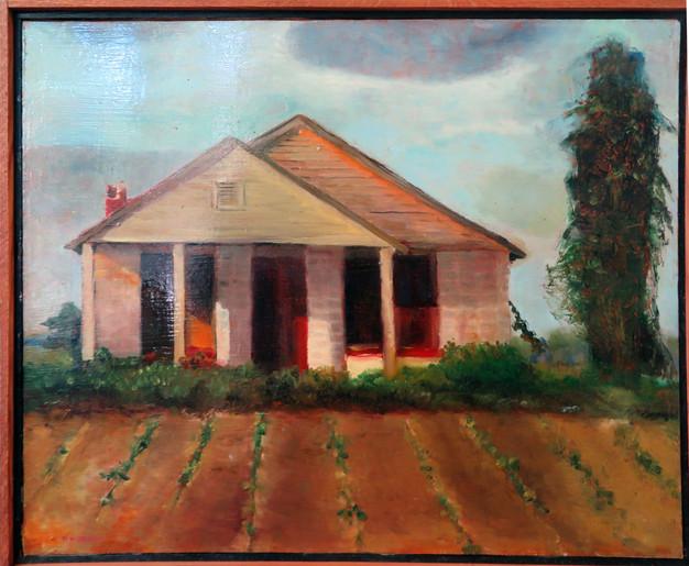 """Pillar of Kudzu"" PS-1998-005 Oil on canvas 18"" x 22"""