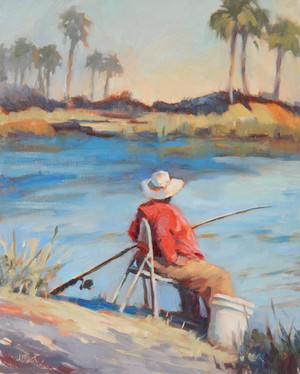 """""""Waiting Game"""" Oil on Canvas 20"""" x 16"""""""