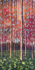 """""""Pine Flatwood I"""" Acrylic on Canvas 36"""" x 18"""""""