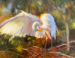 """""""Angelic Grace"""" Oil on Canvas 12"""" x 16"""""""