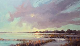 """Salt Marsh Morning II"" Oil on Canvas 34"" x 59"""