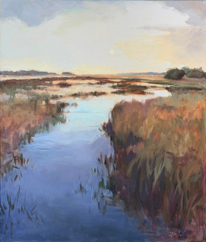 """""""Morning on the Marsh Oil on Canvas 36"""" x 30"""""""