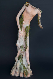 "#17005 Spirit of the Oak Tree 26"" Clay Sculpture"