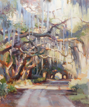 """""""Lowcountry Road"""" Oil on Canvas 36"""" x 30"""""""