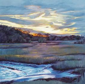 """Emily's Marsh"" Oil on Canvas 30"" x 30"""