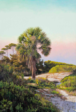 """""""In the Dunes"""" #16106 Acrylic on Linen 60"""" x 31"""""""