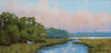 """""""The Inlet"""" Oil on Canvas 15"""" x 30"""""""