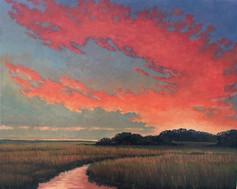 """September Fire"" Oil on Canvas 16"" x 20"""