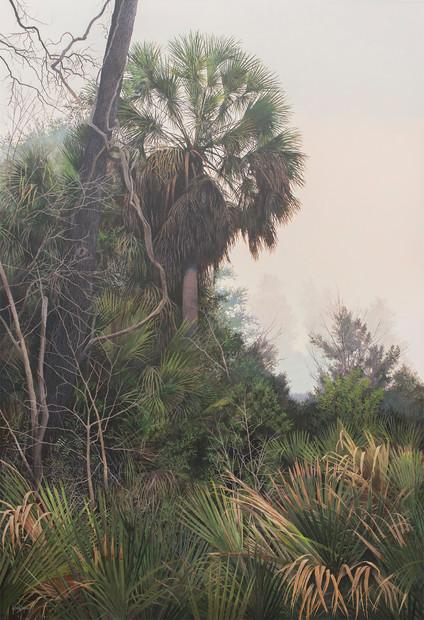 """Ocean Mist"" #19122 Acrylic on Linen 60"" x 41"""