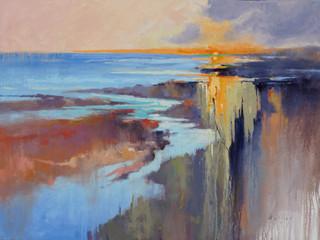 """""""Dawn on the Beach"""" Oil on Canvas 30"""" x 40"""""""