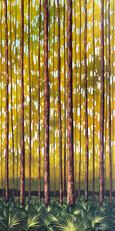 """""""Pine Flatwood II"""" Acrylic on Canvas 36"""" x 18"""""""